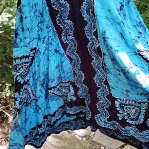 Dresses - Beautiful bright blue ethnic print w embroidery .